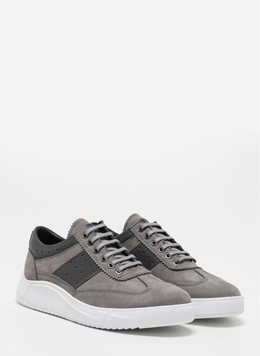 D by Divarese Deri Sneaker Gri